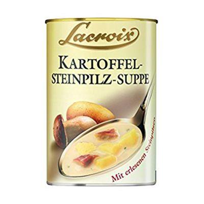 Crema de patatas con setas
