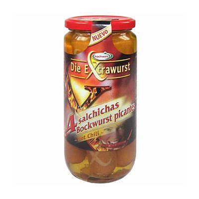 Salchicha Bockwurst picantes