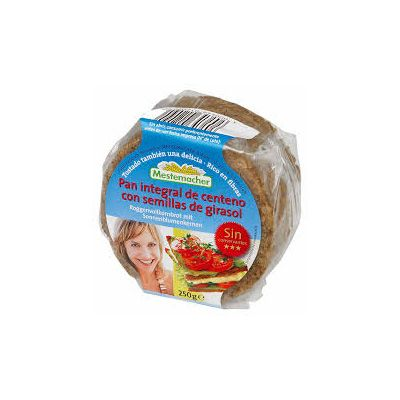Pan integral de centeno con semillas de girasol
