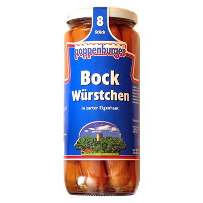 Salchicha Bockwurst 8 piezas sin piel