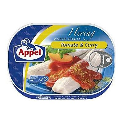 Arenque en salsa de tomate con curry