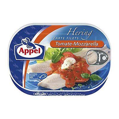 Arenque en salsa de tomate mozzarella